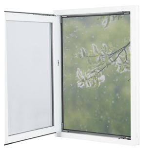 EASYmaxx Moskitonetz mit Pollenschutz 150x130cm grau 12 Magnetbefestigung für Fenster - Bild 1
