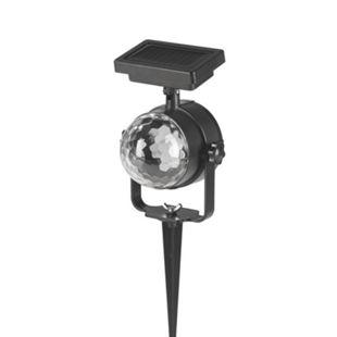 MAXXMEE Solar-Partystrahler 3,7V schwarz Farbwechsel mit Erdspieß - Bild 1