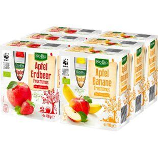 BioBio Fruchtmus 400 g, verschiedene Sorten, 6er Pack - Bild 1