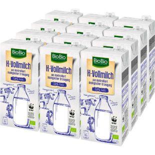 BioBio H-Milch 3,8 % 1 Liter, 12er Pack - Bild 1