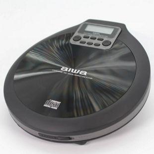 Aiwa PCD-810BK tragbarer CD/CD-R/MP3 Spieler, Grau Schwarz, mit Earphones und Tasche, ESP - Bild 1