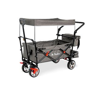Pinolino Klappbollerwagen AddPlus mit Bremse, grau meliert - Bild 1