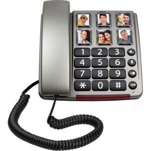 Profoon TX-560 Schnurgebundenes Telefon mit großen Fototasten und Zahlen - Bild 1