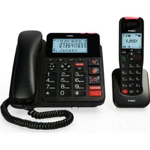 Fysic Schnurgebundenes Telefon FX-8025 mit Anrufbeantworter und DECT-Telefon für Senioren - Bild 1