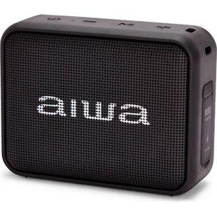 Aiwa BS-200BK schwarz Bluetooth Lautsprecher TWS FM Radio IPX6 Bassbox 6W RMS - Bild 1