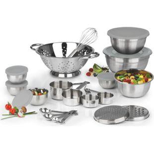 MAXXMEE Küchen-Set 27-tlg. Edelstahl - Bild 1