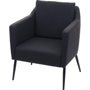 Lounge-Sessel MCW-H93a, Sessel Cocktailsessel Relaxsessel ~ Kunstleder schwarz - Bild 1