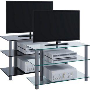 """VCM TV-Rack Lowboard Konsole Fernsehtisch TV Möbel Bank Glastisch Tisch Schrank """"Sindas"""" - Bild 1"""