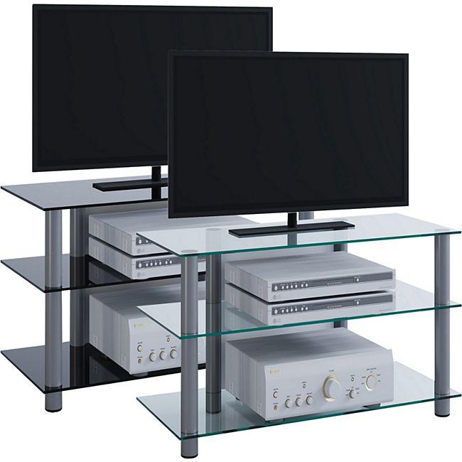 VCM my media TV-Rack Lowboard Konsole Fernsehtisch TV Möbel Bank Glastisch  Tisch Schrank \
