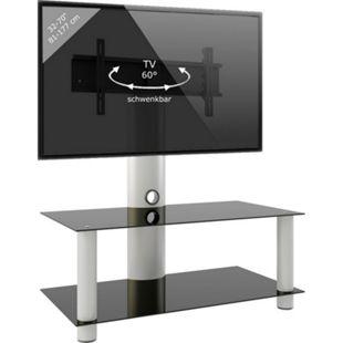 """VCM TV-Rack Lowboard Konsole Fernsehtisch TV Möbel Glastisch Tisch mobil fahrbar Rollen Schrank Bank  """"Valeni Maxi"""" - Bild 1"""