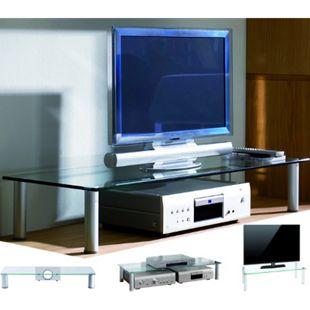 """VCM TV-Aufsatz TV Glasaufsatz Monitor Erhöhung Fernseh Aufsatz Glas """"Felino"""" - Bild 1"""