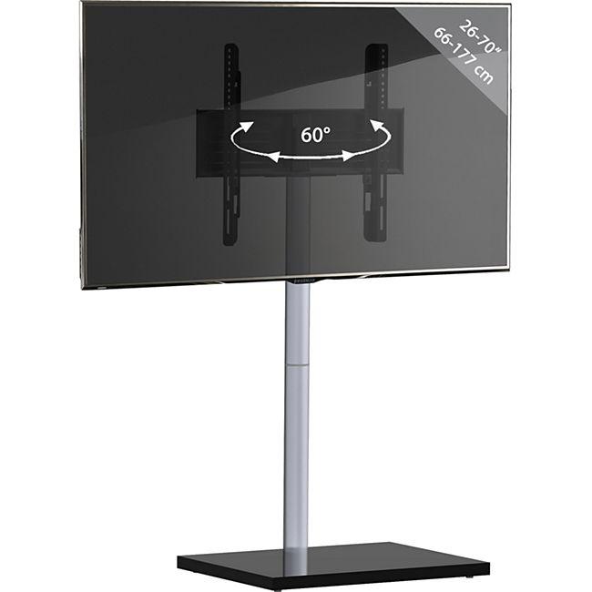 "VCM TV-Standfuß LED Ständer Fernseh Standfuss Alu Glas Universal ""Nalano"" Universell VESA - Bild 1"