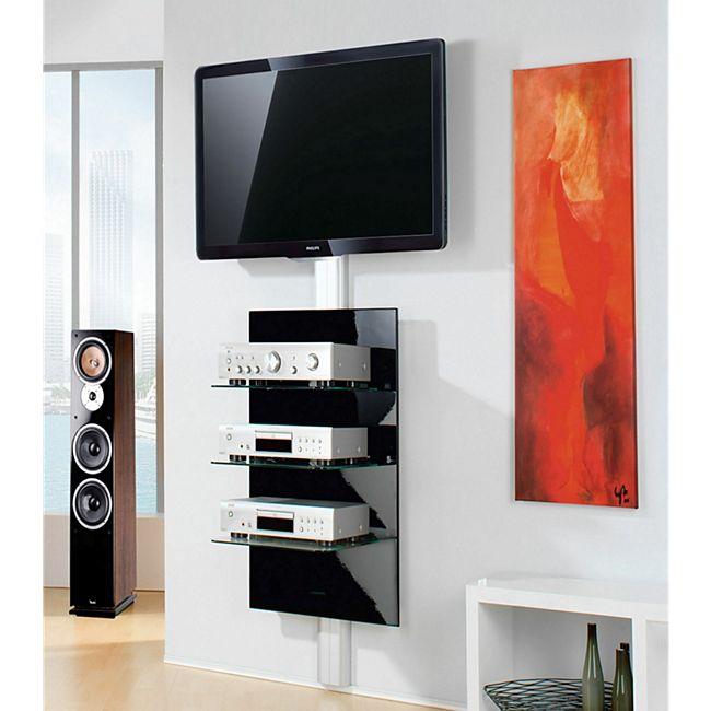 "VCM Paneel Hifi-Halterung Receiver DVD-Player Hifi-Möbel Hifi-Konsole Wandregal ""Xeno-3 Klarglas"" - Bild 1"