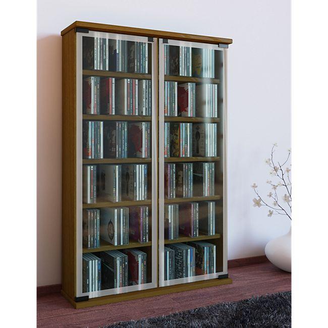 """VCM Regal DVD CD Rack Medienregal Medienschrank Aufbewahrung Holzregal Standregal Möbel Bluray Möbel """"Galerie"""" - Bild 1"""