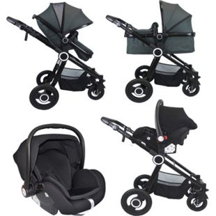 VCM Premium Set 3in1 Kombi - Kinderwagen, gefederter Babywagen Wanne Autositz Alu Pilosa - Bild 1