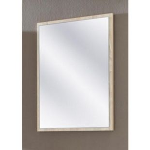 VCM Spiegel Badspiegel Wandspiegel Rahmenspiegel Carlos in Eiche-Sägerau 60 x 45 cm - Bild 1
