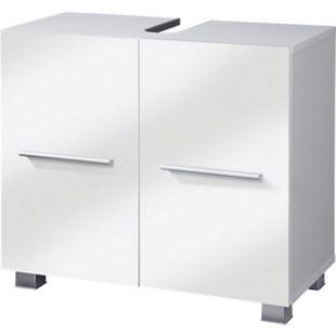 VCM Waschtischunterschrank Unterschrank Badschrank Carlos weiß / weiß 65 x 31,5 x 51,5 cm Waschbecke Badmöbel - Bild 1
