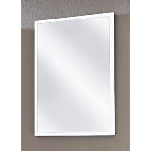 VCM Spiegel Badspiegel Wandspiegel Rahmenspiegel Carlos in weiß 60 x 45 cm - Bild 1