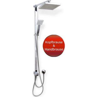 VCM Duschset Duschsystem Set Duschkopf Handbrause Schlauch Duschstange Madrid - Bild 1