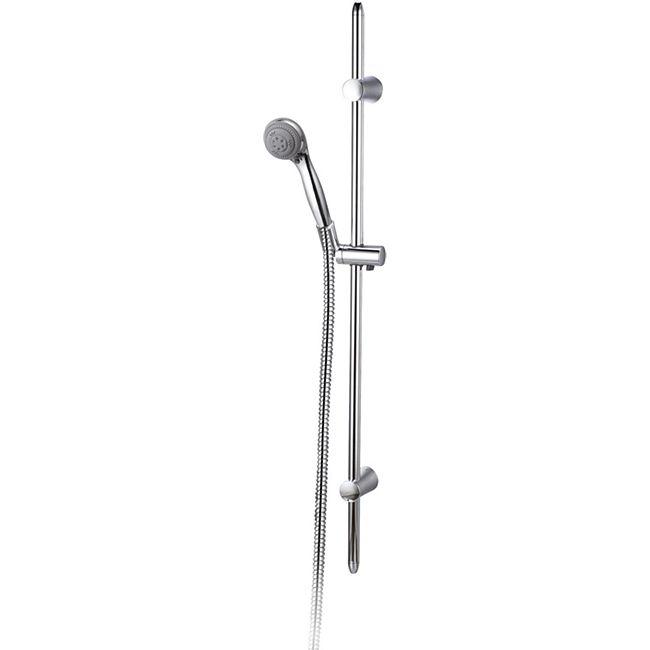 """VCM Duschset Duschsystem Set Duschkopf Handbrause Schlauch Duschstange """"Roma""""  in verschiedenen Längen - Bild 1"""