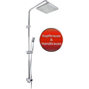 VCM Duschset Duschsystem Set Duschkopf Handbrause Schlauch Duschstange Marbella Wellness - Bild 1