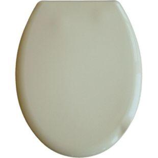 VCM WC Klo Sitz Toilettendeckel Deckel Brille Toilettensitz Klodeckel Como Thermoplast Verstellbare Edelstahlscharniere - Bild 1