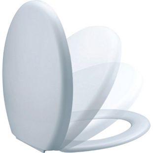 VCM WC Sitz Toilettendeckel Klodeckel mit Absenkautomatik Deckel Brille Firenze - Klobrille Toilettensitz - Bild 1