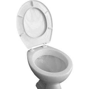 VCM WC Sitz Toilettendeckel Klodeckel Toilettensitz Deckel Brille Klobrille Iseo Verstellbare Scharniere - Bild 1