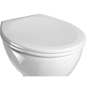 VCM WC Sitz Toilettendeckel Klodeckel Toilettensitz Klo Deckel Brille Klobrille Limone Verstellbare Edelstahlscharniere - Bild 1