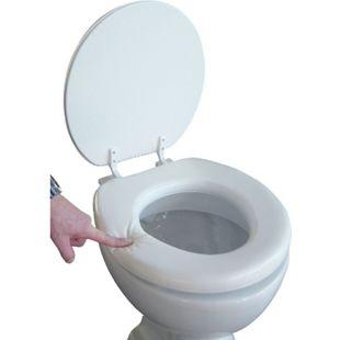 VCM Soft WC Sitz Toilettendeckel Deckel Brille Toilettensitz Klobrille Lugano - Gepolsterte Sitzfläche bis 150 kg - Bild 1