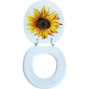 VCM VCM WC Sitz Toilettendeckel Deckel Toilettensitz Klodeckel Klositz Klobrille Motiv Sonnenblume - Bild 1