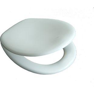 VCM WC Klo Sitz Toilettendeckel Deckel Brille Toilettensitz Klodeckel Venezia - Verstellbare Edelstahlscharniere - Bild 1