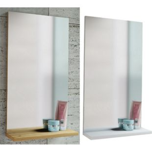"""VCM Spiegel Badspiegel Wandspiegel mit Ablage Badmöbel """"Sesal"""" 60 x 35 x10 cm - Bild 1"""