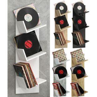"""VCM Regal Schallplatten Möbel LP Aufbwahrung Archivierung Wandregal Hängeregal Holz """"Sulda"""" - Bild 1"""