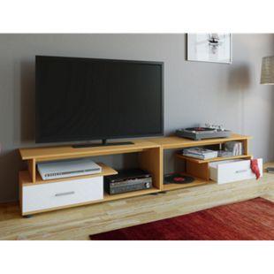 "VCM TV Lowboard Schrank Tisch Rack Fernsehschrank Fernsehtisch Möbel Bank Holz ""Rimini Maxi"" - Bild 1"
