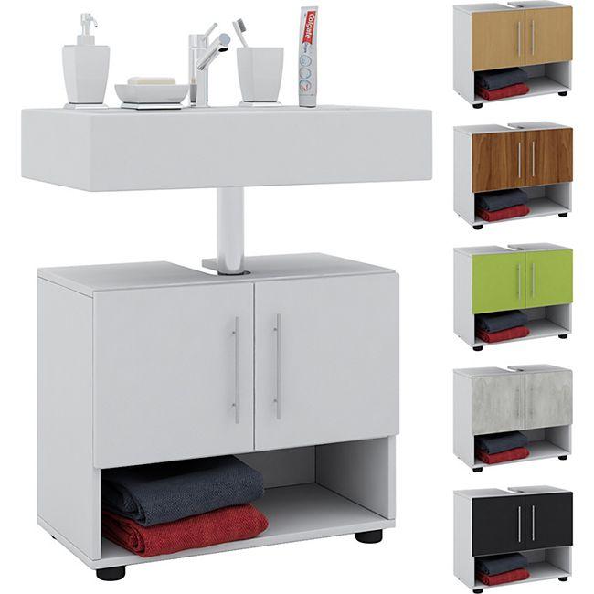 """VCM Bad Unterschrank Waschtisch Waschbeckenunterschrank Badunterschrank Schrank Möbel """"Hebola"""" 51 x 60 x 30 cm Badezimmer Regal - Bild 1"""
