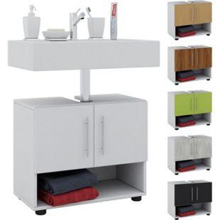 """VCM Bad Unterschrank Waschtisch Waschbeckenunterschrank Badunterschrank Schrank Möbel """"Intola"""" 51 x 60 x 30 cm Badezimmer Regal - Bild 1"""