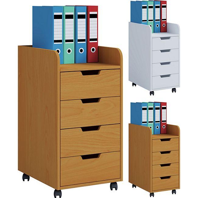 VCM Rollcontainer Bürocontainer Schubladenschrank Büroschrank Schubladen Konal Maxi - Bild 1
