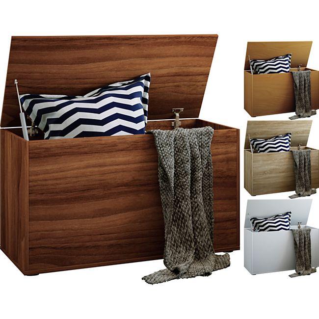 VCM Sitzbank Sitztruhe Aufbewahrungsbox Truhenbank Ottomane Auflagenbox Truhe Bendola - Bild 1