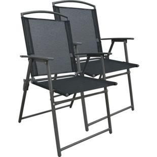 VCM Set Gartenstuhl Stühle Stuhl Metall Textilene klappbar - Bild 1