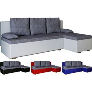 """VCM Ecksofa Bettsofa Schlafsofa Couch mit Schlaffunktion Schlafcouch """"Windus"""" - Bild 1"""