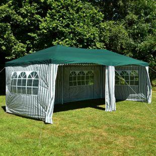VCM Pavillon Partyzelt grün 3x6m PE 110g/m² Gartenzelt Festzelt Eventzelt Marktzelt - Bild 1