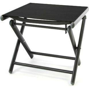 VCM Alu Hocker klappbar Sitzhocker - Textilene schwarz - Rahmen dunkelgrau - Camping - Bild 1