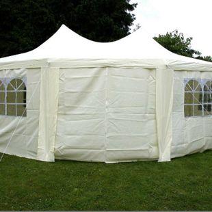 VCM Festzelt Pavillon Partyzelt Feier-Zelt  6x4,4x3,3 m creme wasserdicht hochwertig - Bild 1