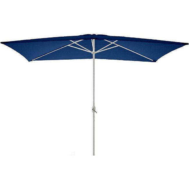 VCM Sonnenschirm eckig 2x3m blau mit Kurbel Marktschirm Rechteckschirm Sonnenschutz - Bild 1