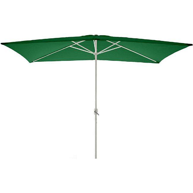 VCM Sonnenschirm eckig 2x3m grün mit Kurbel Marktschirm Rechteckschirm Sonnenschutz - Bild 1