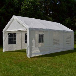 VCM Hochwertiges Festzelt Partyzelt Bierzelt Gartenzelt Pavillon weiß 4x6 m PE Stahl - Bild 1
