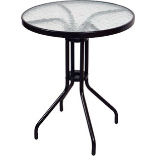 VCM Bistrotisch mit Glasplatte Glastisch Gartentisch Terrassentisch Tisch Glas - Bild 1