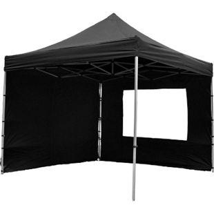 VCM PROFI Faltpavillon Partyzelt mit 4 Seitenteilen 3x3 m schwarz wasserdichtes Dach - Bild 1
