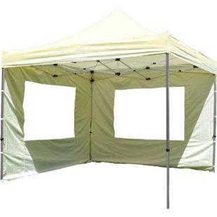 VCM PROFI Falt Pavillon mit 4 Seitenteilen 3x3m champagner wasserdichtes Dach Zelt - Bild 1